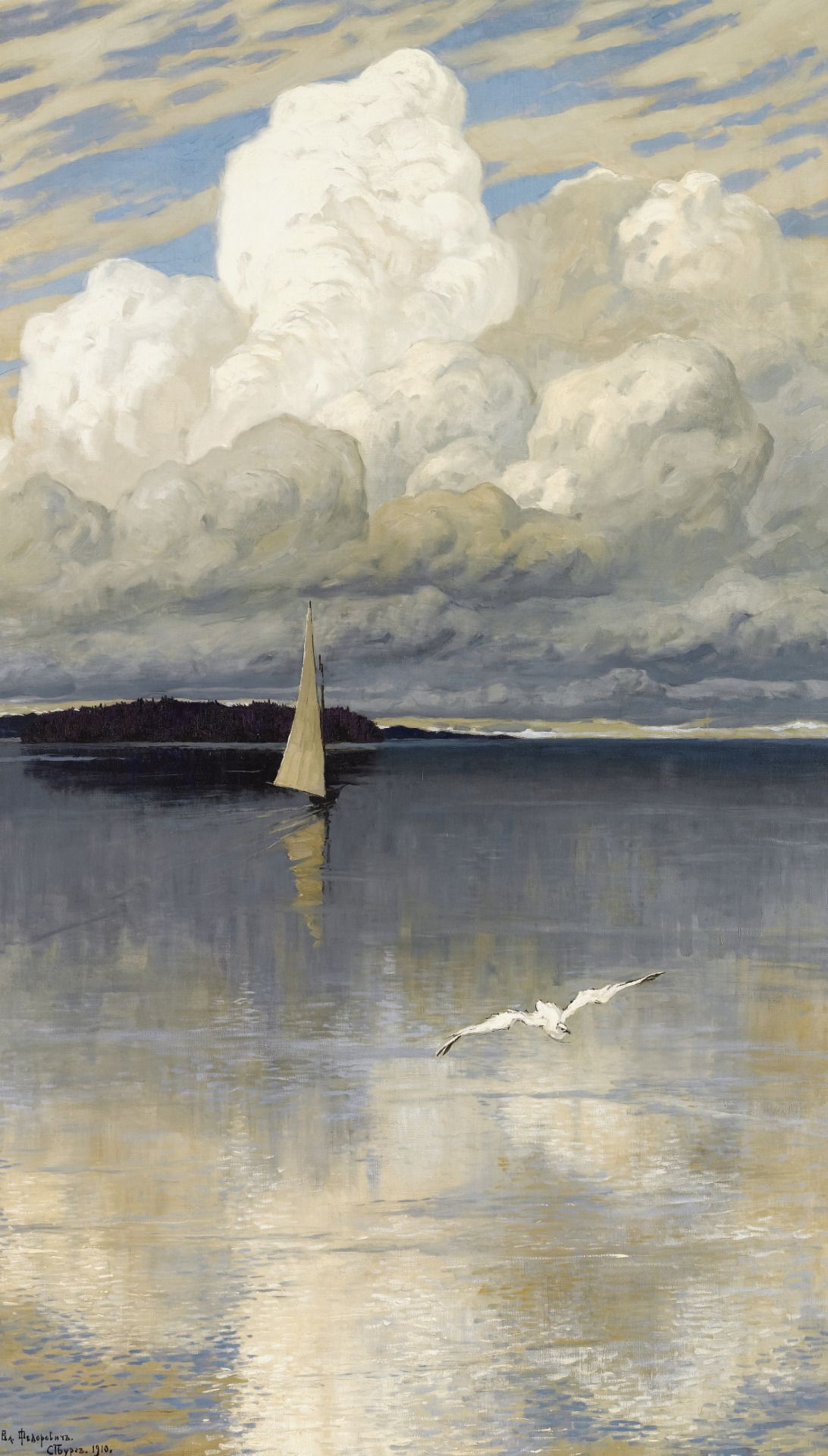 Calm Waters, by Vladimir Nikolaevich Fedorovich, 1910. Oil on canvas