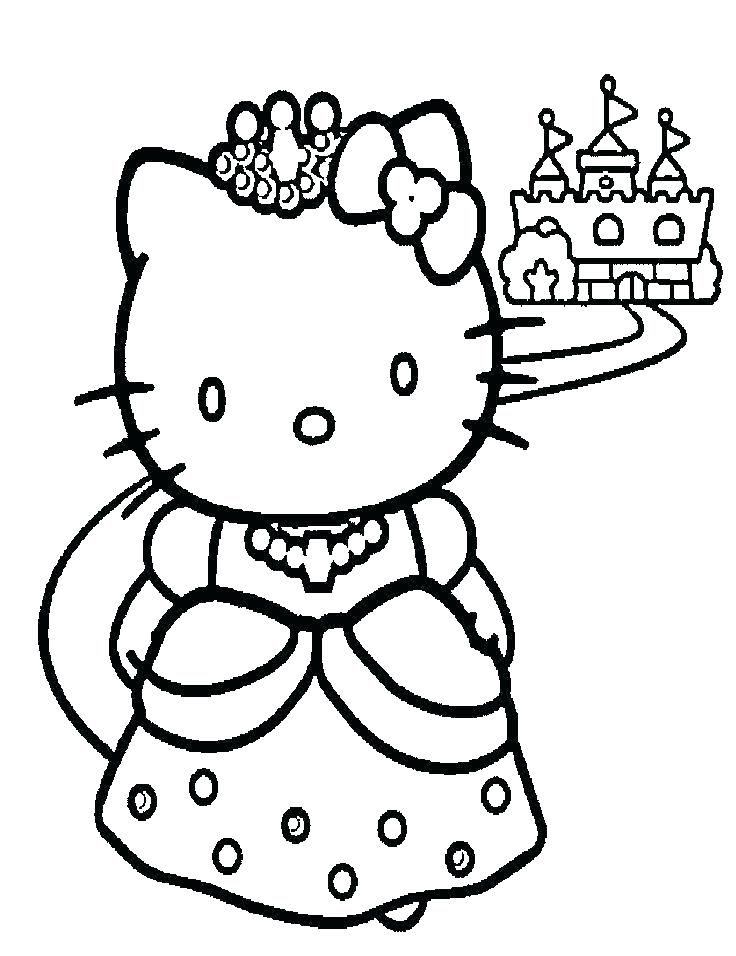 hello kitty princess para colorear páginas para colorear hello kitty ...