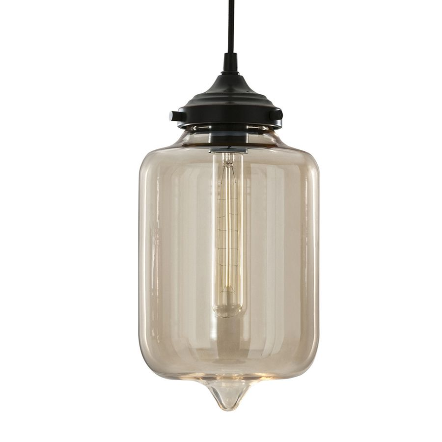 allen roth 701in w aged bronze pendant light with tinted glass shade - Bronze Pendant Light