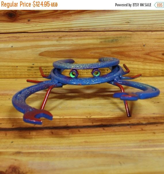 On Sale Crab Made Out Of Horseshoes And Wrenches Horseshoe Making Out Vintage Market