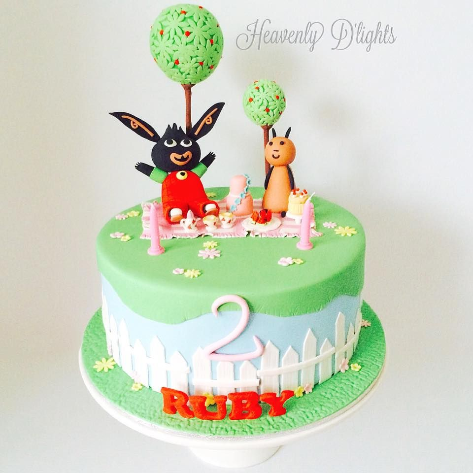 Heavenly Dlights Bing and Flop Birthday Cake for Ruby Jacks cake