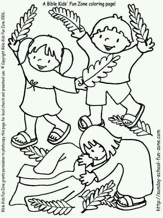 Palm Sunday | Coloring Pages | Pinterest | Jesus para niños, Entrada ...