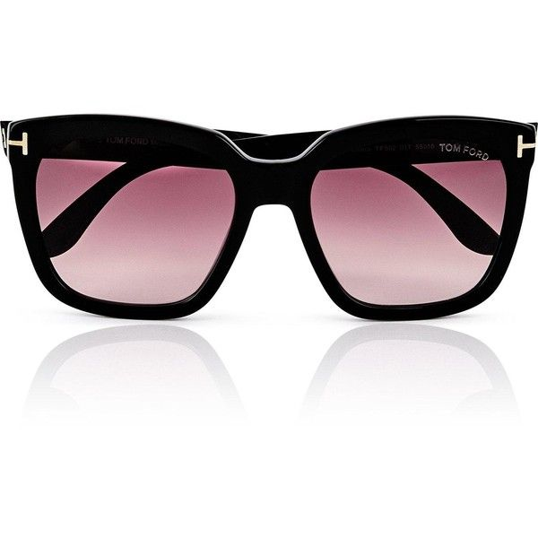 b1298e6935c1 Tom Ford Amarra Squared Sunglasses- Black ( 295) ❤ liked on Polyvore  featuring accessories
