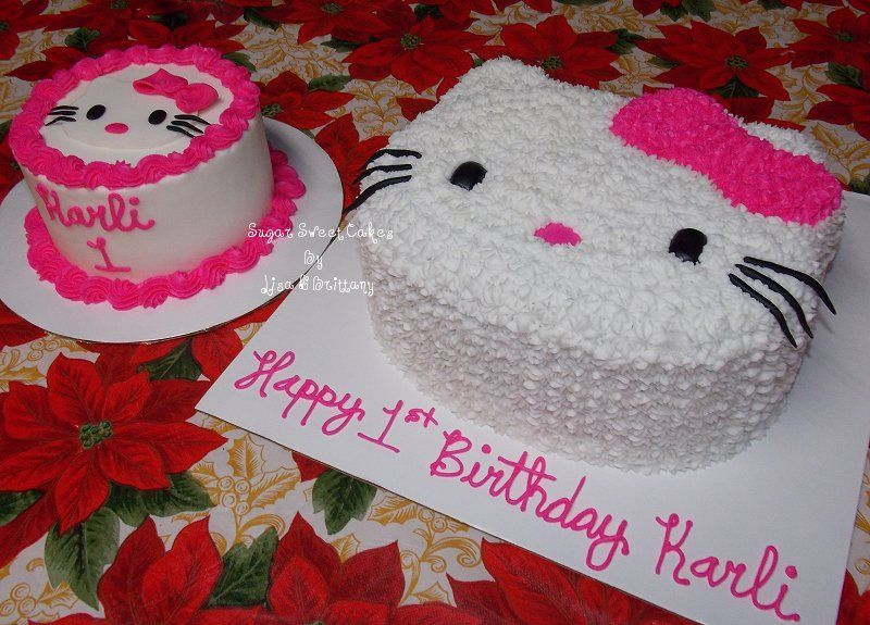 Fantastic Hello Kitty 1St Birthday Hello Kitty Cake Hello Kitty Funny Birthday Cards Online Inifodamsfinfo
