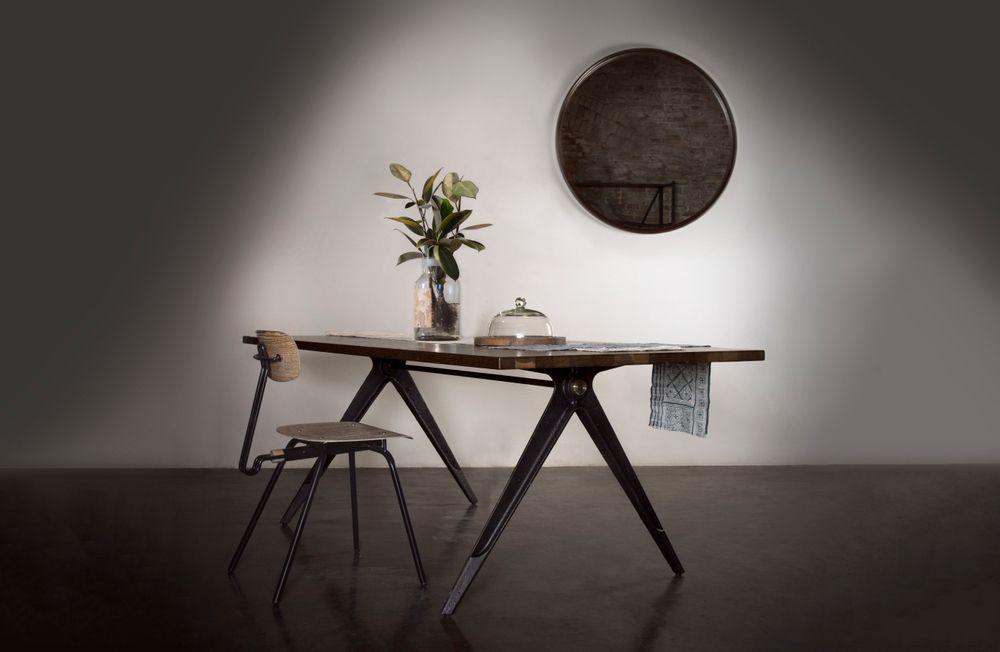 Compass Desk (140*70 cm) Bàn làm việc Desk, Furniture