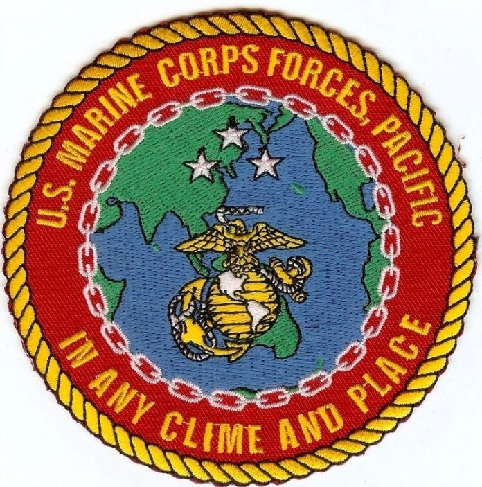 Usmc Marine Forces Pacific Marforpac Larger 4 Color Patch Any Clime Place Marine Forces Marine Corps Marine