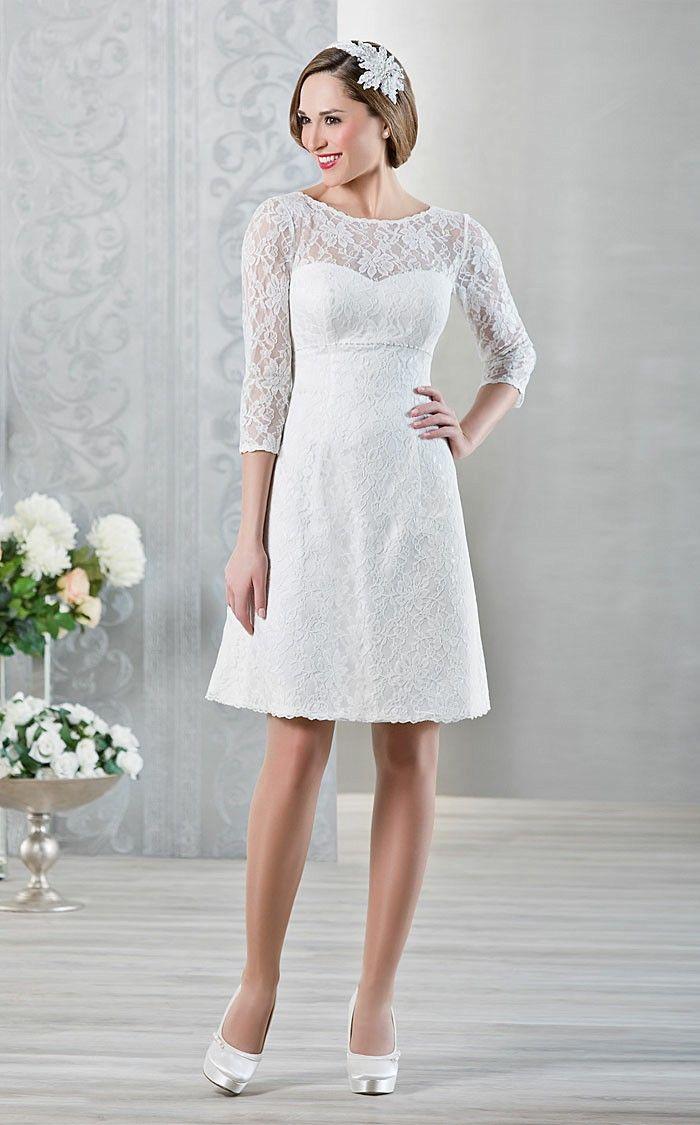 Short wedding dresses 2016 elegance white lace flower pattern long short wedding dresses 2016 elegance white lace flower pattern long sleeve wedding dress romantic bridal gallery ombrellifo Gallery