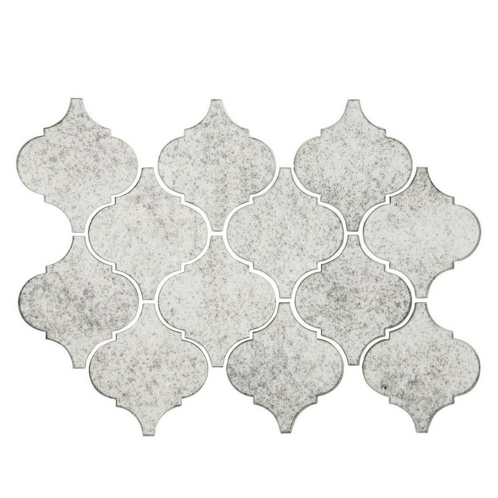 Antique Mirror Arabesque Glass Mosaic Antique Mirror Tiles Antique Mirror Decorative Backsplash