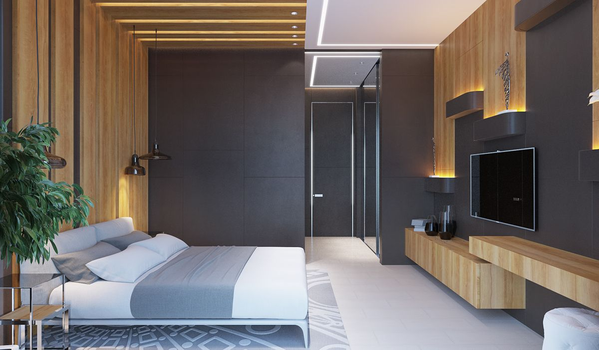 Private House Bedrooms And Bathroom On Behance Luxurious Bedrooms Modern Bedroom Interior Master Bedroom Renovation Spacious and luxurious bedroom