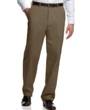 Haggar Microfiber Performance Classic-Fit Dress Pants, Only at Macy's - Tan/Beige 33x30