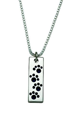 sterling silver rectangular penn state nittany lion paw print