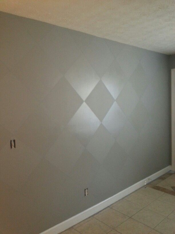 Accent Wall With Flat Satin Paint In Same Color Dining Room Paint Home Decor Accent Wall Paint