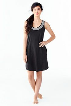 Women's Cotton Slub Embroidered Cover-up from Lands' End