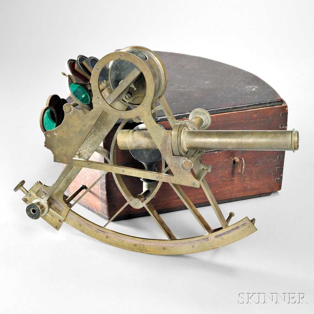 Spencer Browning & Rust 10-inch Brass Bridge Sextant. | Auction 2890M | Lot 309 | Estimate $3,000 - $5,000
