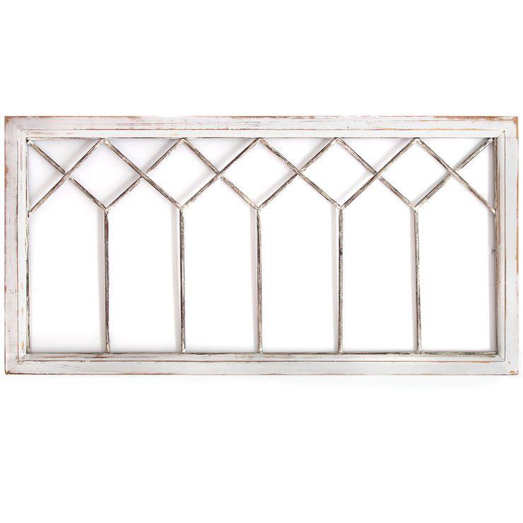 40 X 20 Distressed White Window With Images White Wall Decor White Windows Stratton Home Decor