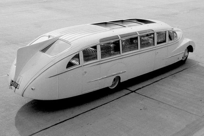 1938 Opel Blitz mit Stromlinien-Aufbau der Firma Ludewig