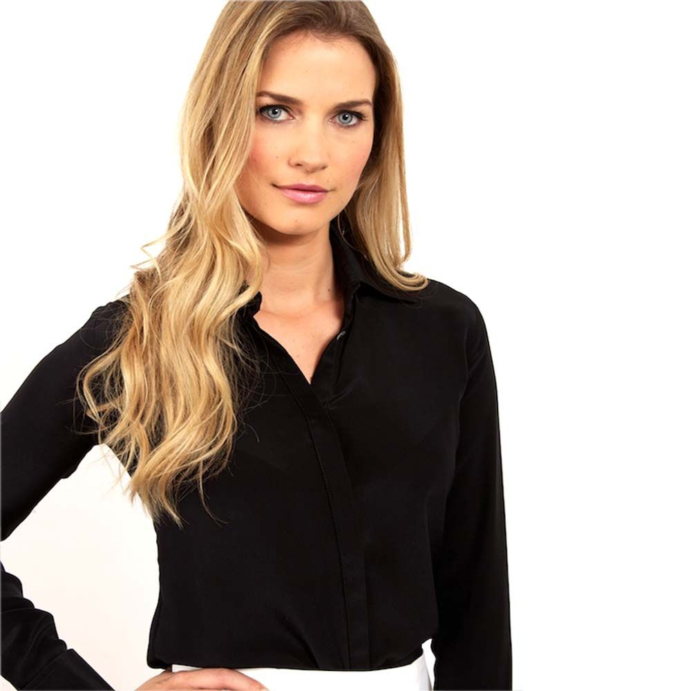 Every Woman's Wardrobe Needs at Least One Black Blouse : Beautiful ...