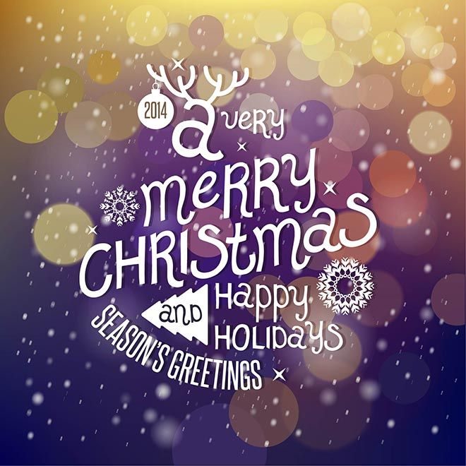 Free vector illustration of beautiful typography 2014 a very merry seasons greetings christmas 2014 purple background vector m4hsunfo Images