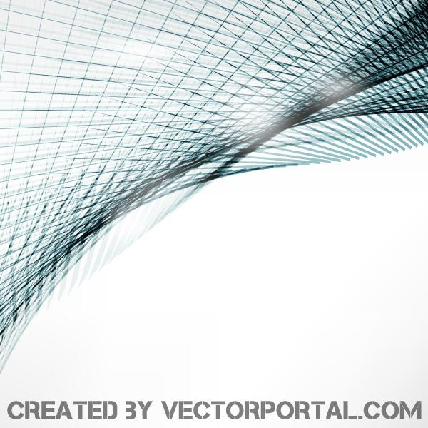 Abstract Curved Lines Vector Background Design