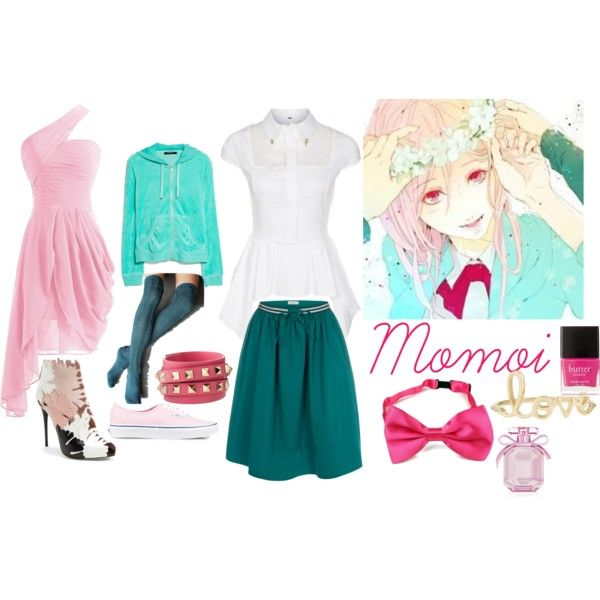 Knb - Momoi by animedowntherunway on Polyvore
