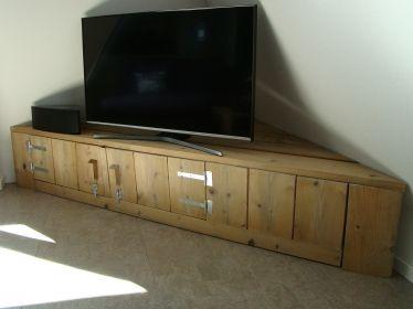 Steigerhout tv meubel hoek meubels etc.