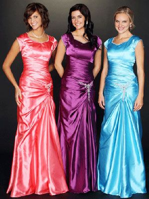 Modest conservative prom dresses gowns Shiny with just the right hint of  sparkle. 6c710740a151