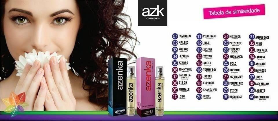 Os Perfumes Azenka têm qualidade DEO PARFUM, ou seja, maior fixação e similaridade olfativa do que uma Deo Colônia.  São Fabricados com Álcool Cereal, Essência Premium, 25% de Essência da Drom Fragrances, uma das maiores fabricantes do Mundo.  A Azenka Perfumes trabalha com as 40 fragrâncias mais vendidas no mundo Veja a Tabela Olfativa:  #Azenka, #AzenkaCosmeticos, #Salao, #AzenkaBrasil, #SalaodeBeleza, #Cabelos, #Cosmeticos, #Perfumes, #Azk