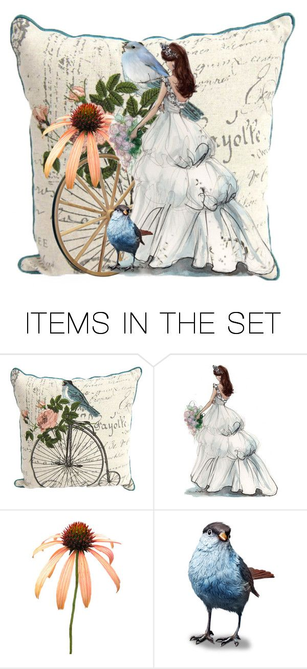 """Southern Belle Pillow ❤"" by catfabricsandbuttons ❤ liked on Polyvore featuring art, southern and http"