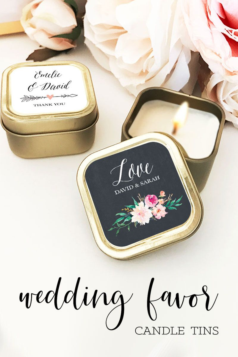 Candle Wedding Favors Gold Floral Personalized Candle Wedding Favors Personalised Wedding Candles Candle Wedding Favors