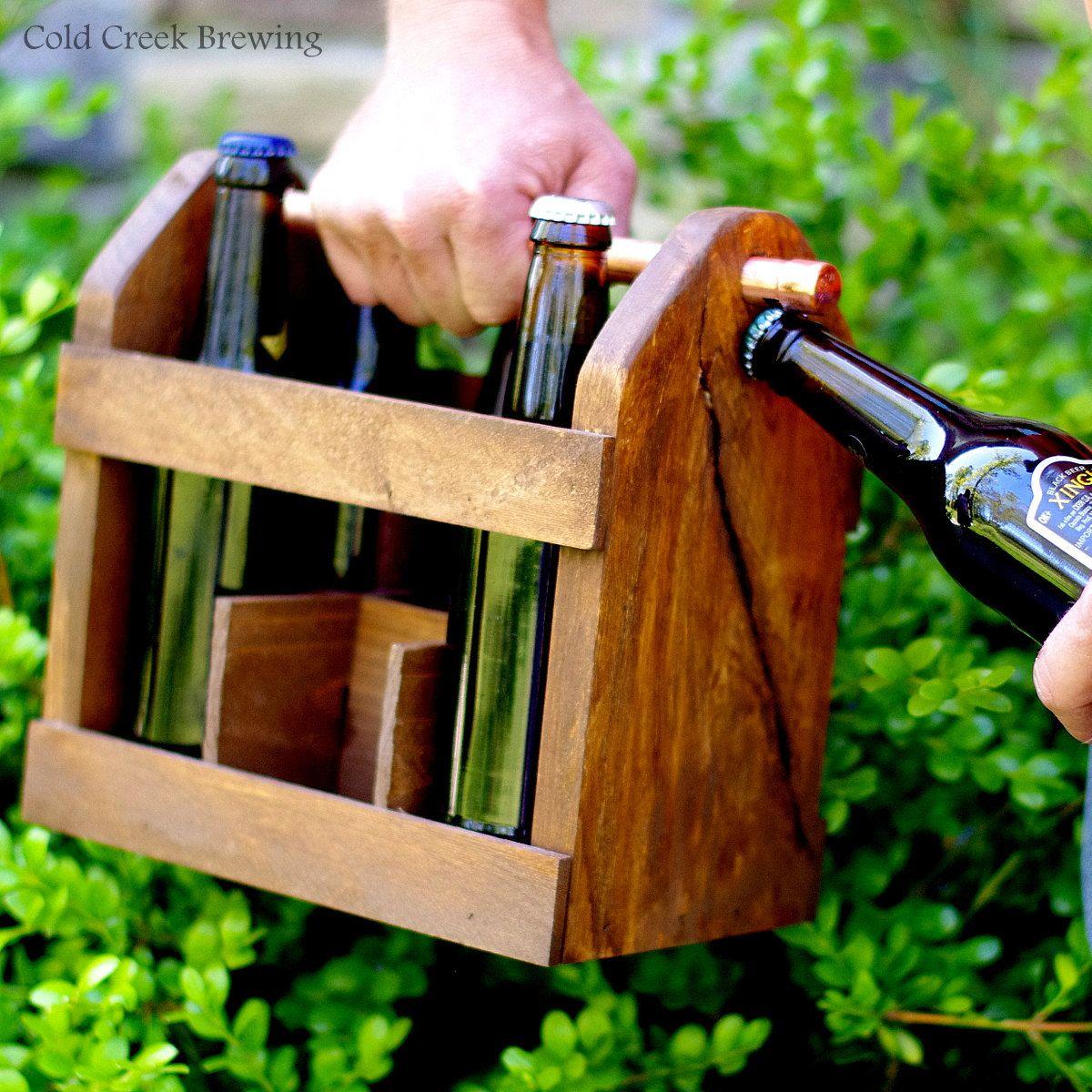 Six Pack Carrier Beer Carrier Beer Tote Wood Beer Carton 6