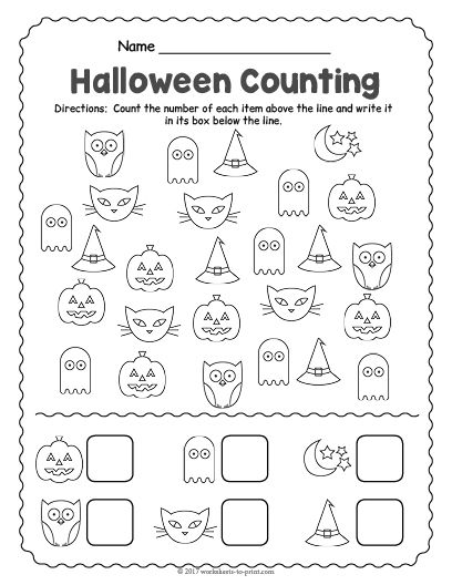 This is an image of Free Printable Halloween Worksheets in activity