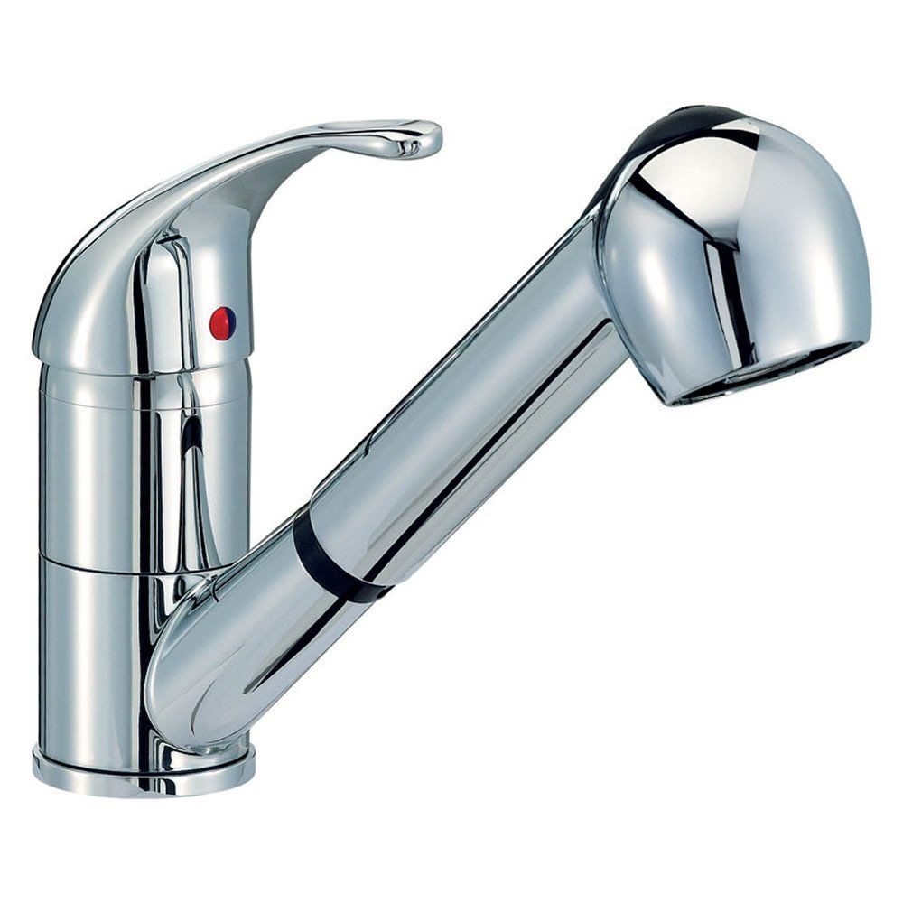 Astini Titan Chrome Single Lever Pullout Spout Kitchen Sink Mixer ...
