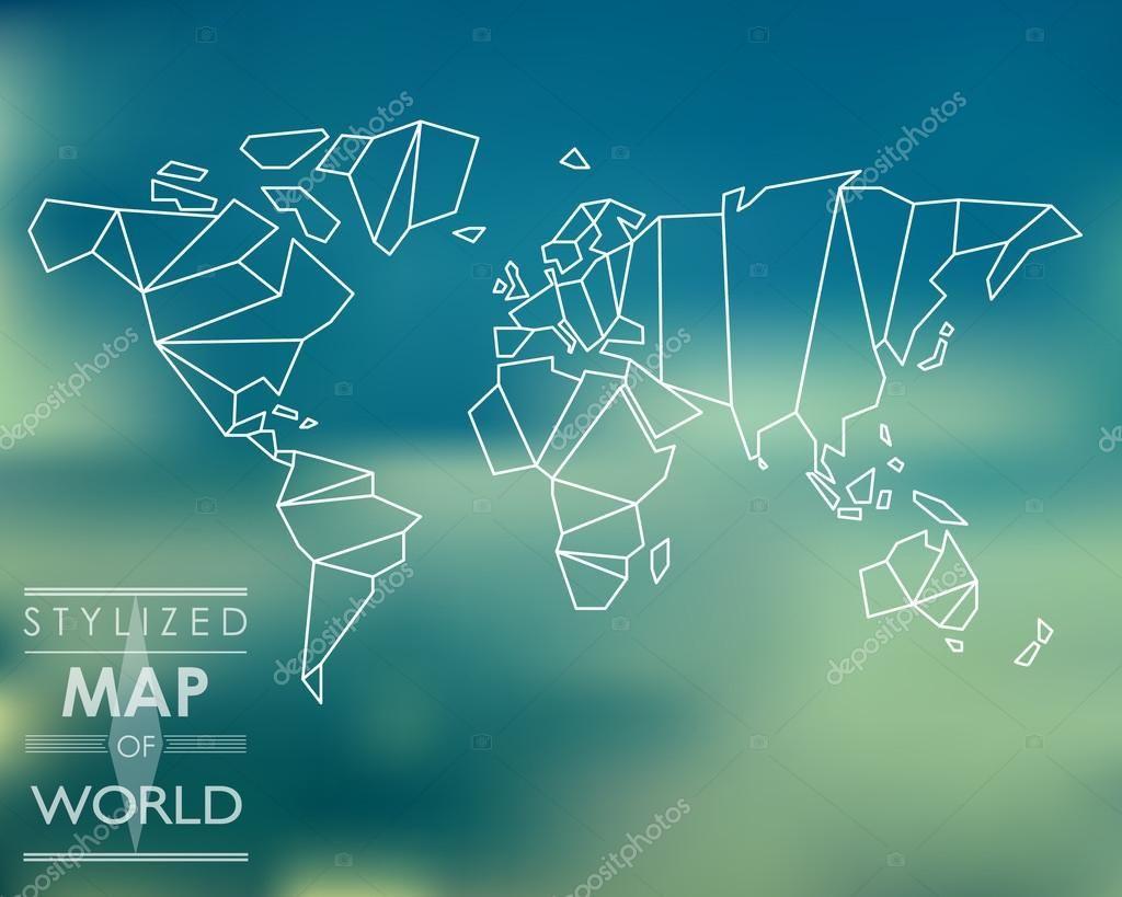 Body piercing map  depositphotosstockillustrationstylizedmapofworldg