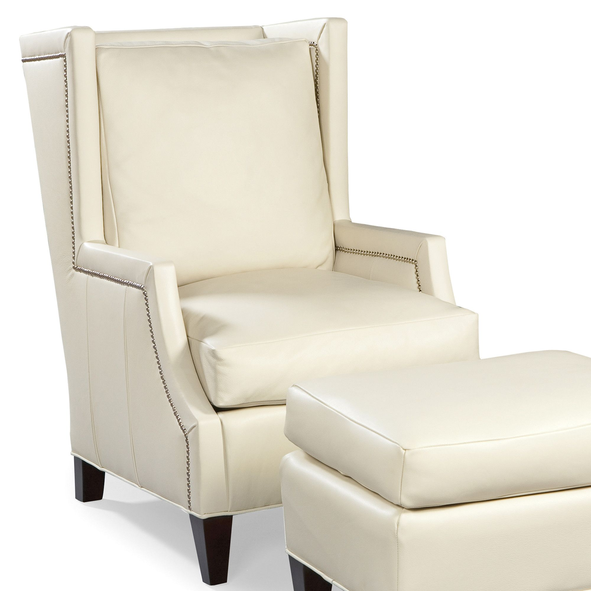 Leather High Back Wing Chair Wingback chair, High back