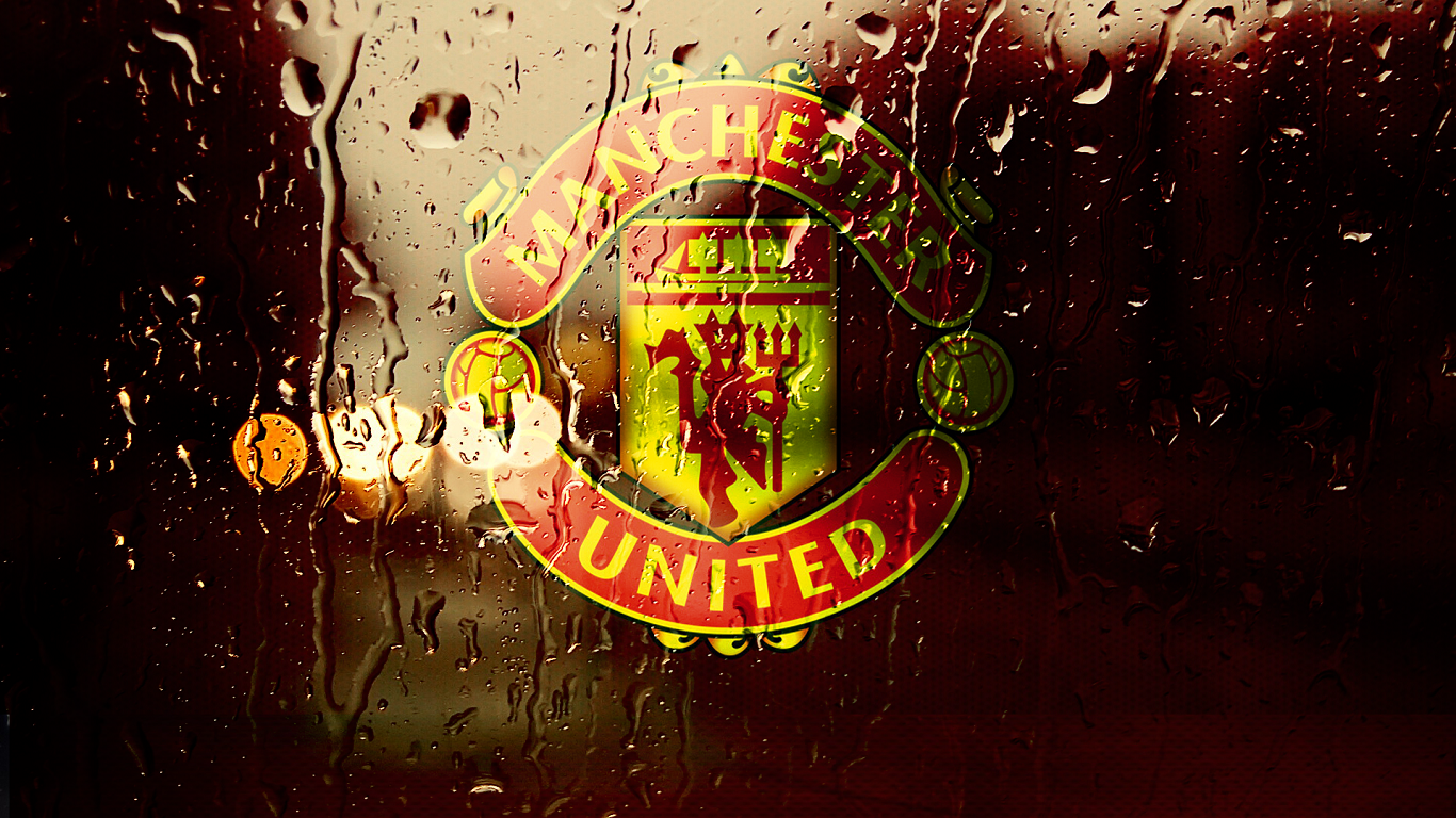 Most Nice Manchester United Wallpapers Hd Wallpaper Manchester United Rain Fall Desktop Wallpaper