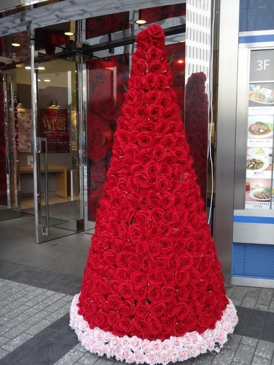 Red Rose Holiday Christmas Tree Merry Christmas Happy Holidays Red Christmas