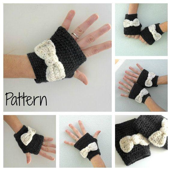 Crochet fingerless gloves mittens PDF Pattern por yoghi911 en Etsy ...