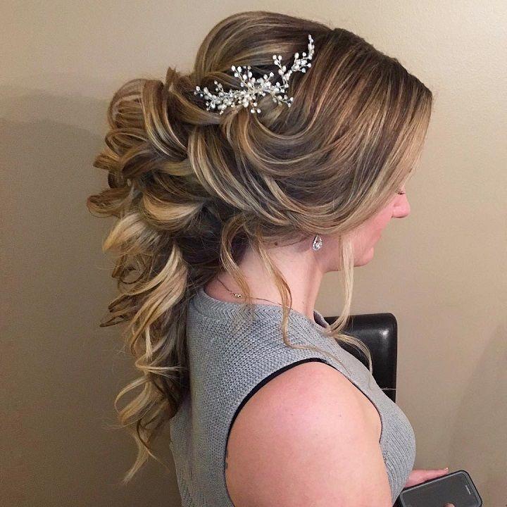 Swept back bridal hairstyles for Disney princess brides