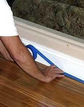 Apply Tape To Hardwood Floor Caulk Baseboards Baseboards