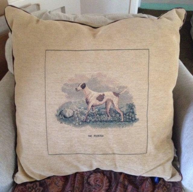 Decorative Tapestry Pillow Ashford Court The Pointer 40 X 40 Extraordinary Ashford Court Decorative Pillows