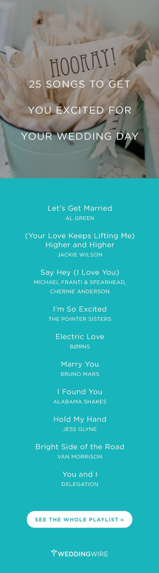25 Songs To Get You Excited For Your Wedding Day