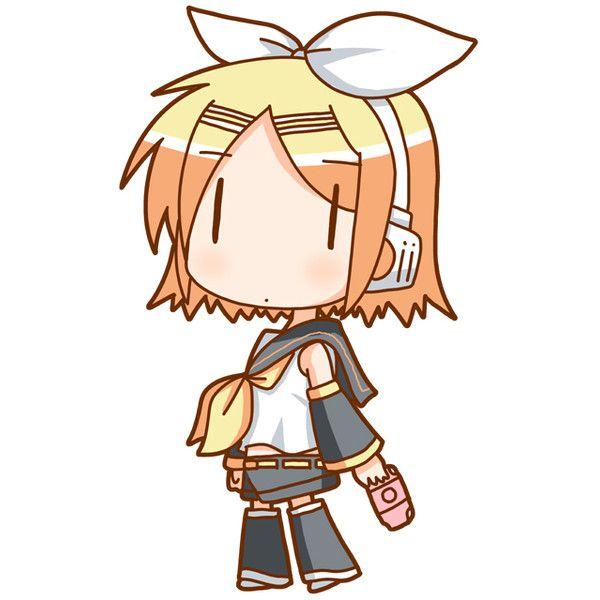 Kagamine rin chibi image by tobis_anime on Photobucket ❤ liked on Polyvore