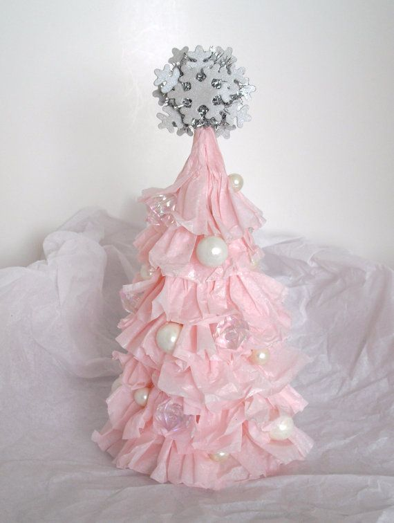 shabby chic christmas tree | Small Shabby Chic Ruffled Light Pink ...
