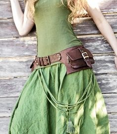 women's Steampunk belt | Pocket Leather Belt Bag {Brown} || Shovava Leather Shop via Etsy