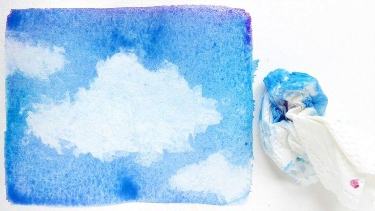 Malen Lernen Mit Aquarell Himmel Mit Wolken Wolken Malen Malen