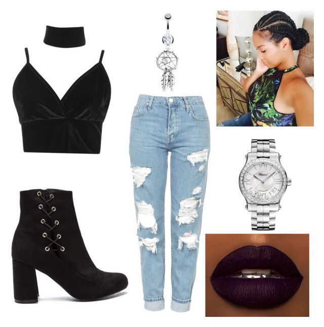 """""""Untitled #2"""" by keshawna-primer on Polyvore featuring Boohoo, Topshop, Chopard, Bling Jewelry and MinnieStyles"""