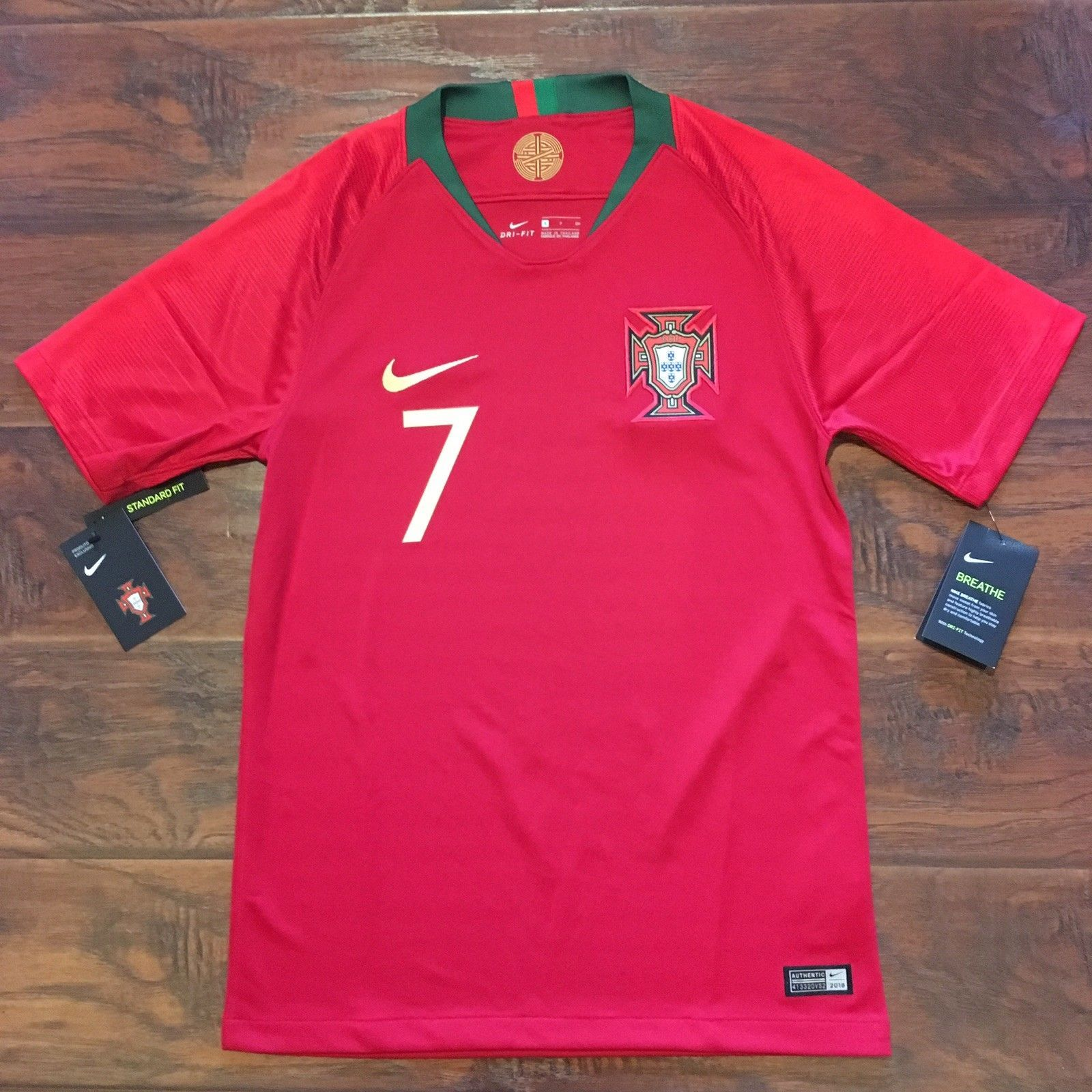 size 40 4c878 67d44 2018 Portugal Home Jersey #7 Ronaldo Small Nike Soccer World ...