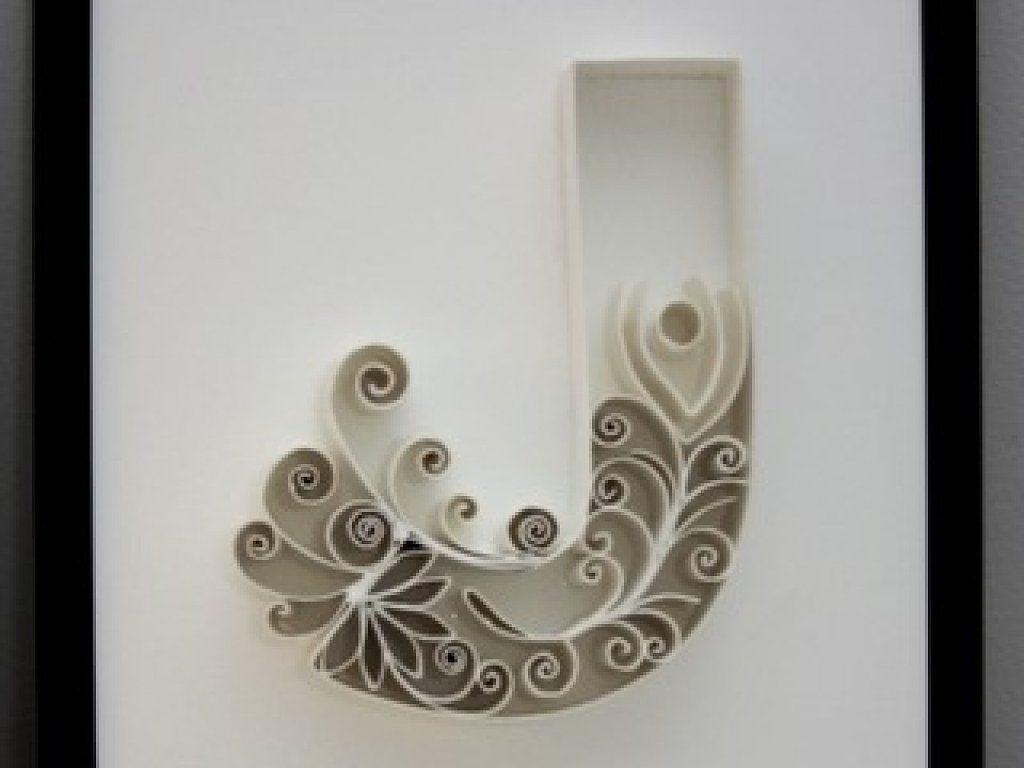 C mo hacer letras decorativas quilling - Como hacer manualidades ...