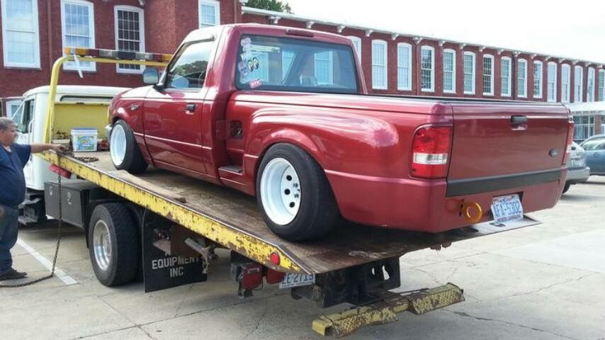 Ford Ranger StepSide MiniTruck Modified Slammed Stance Steelies
