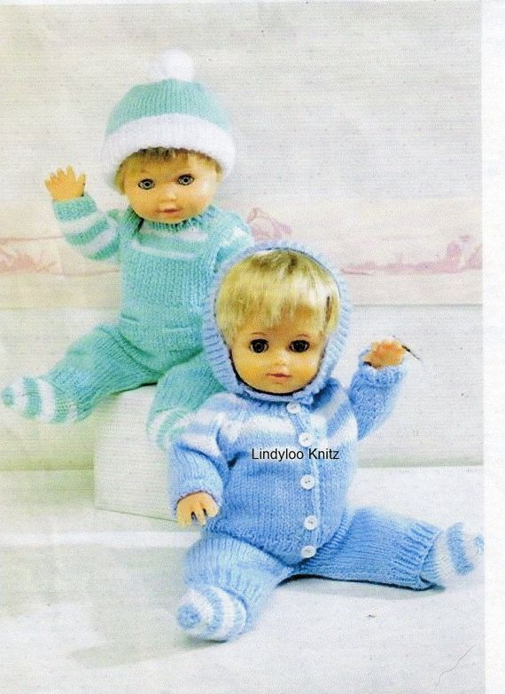 PDF Knitting Pattern Dolls Clothes 12-14 inch by LindylooKnitz ...